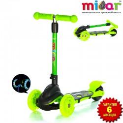 Самокат Scooter Mini Micar Zumba Чёрно-зелёный (Арт. TC08)