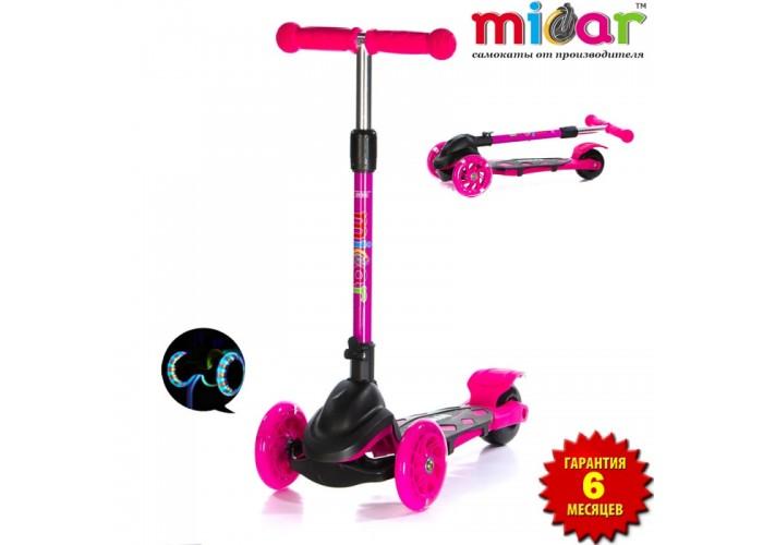 Самокат Scooter Mini Micar Zumba Чёрно-розовый (Арт. TC08)