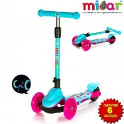 Самокат Scooter Mini Micar Zumba Розово-голубой (Арт. TC08)