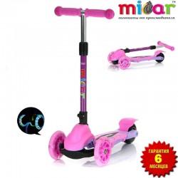 Самокат Scooter Mini Micar Zumba Розовый (Арт. TC08)