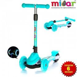 Самокат Scooter Mini Micar Zumba Голубой (Арт. TC08)